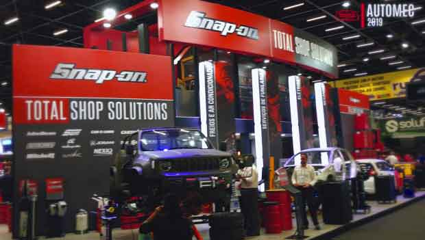 Nuevo stand para la marca Sun y Snap-on Total Shop Solutions, Automec 2019